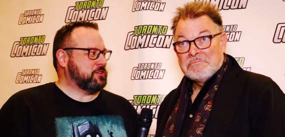 Mr. Green chats with Star Trek: TNG's Jonathan Frakes.