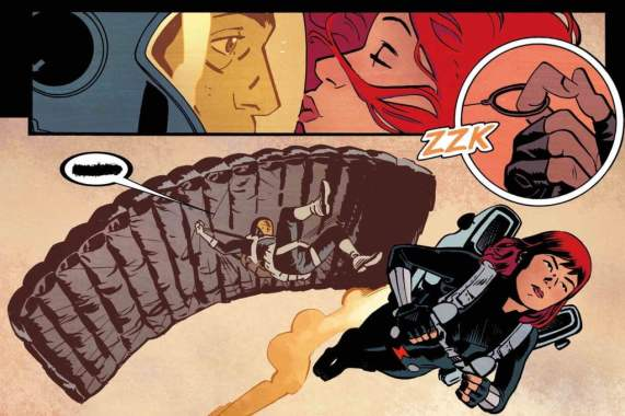 Chris Samnee's strong visual storytelling is the backbone of this extremely compelling Black Widow series.