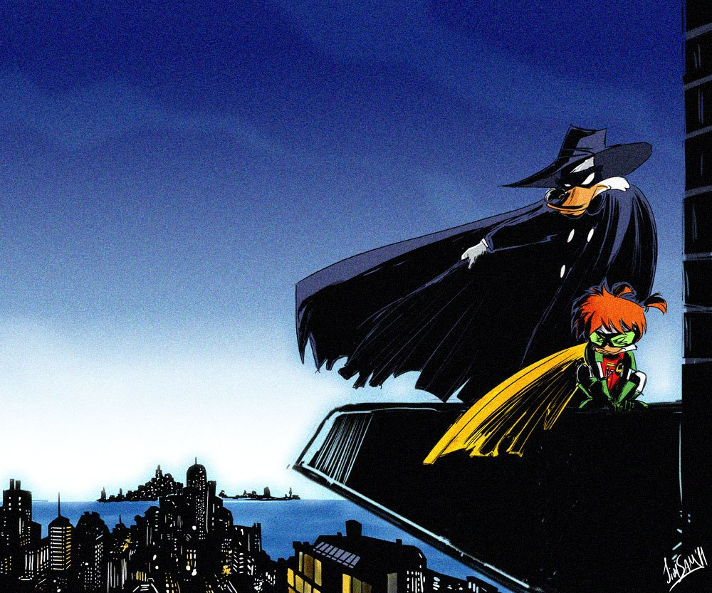 Dark Knight Falls Wallpaper Картинки Черный плащ Darkwing Duck