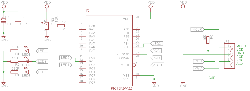 pickit 2 programmer circuit diagram 1993 ford f150 xl radio wiring playing with pics : 5. smooth led chasing pwm | geekily interesting