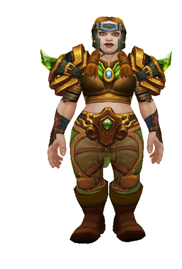 Emerald Hunter set - Front View