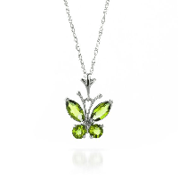 Peridot Butterfly Pendant Necklace