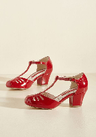 B.A.I.T. Footwear Shimmer Down Now T-Strap Hee