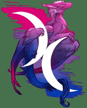 Bisexual Pride Dragon by Kaenith