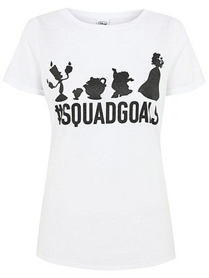 Disney Beauty and the Beast Sqaud Goals t-shirt George at Asda