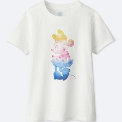 Disney Minnie Sun Watercolour T-Shirt Uniqlo