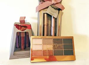 Birthday Present Make Up Gifts - Lip Gloss Set, Mascara/Eyeliner and Eye Shadow palette
