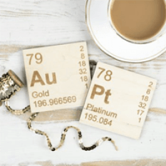 Pair Of Wooden Periodic Table Coasters from Not on the High Street
