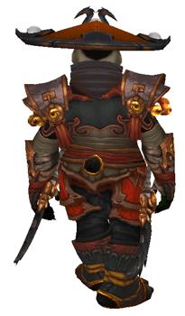 Fire of Chi-Ji [Monk] Transmog set - Back View Sheathed