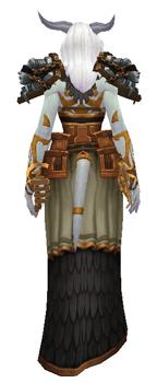Libra: Goddess of Justice Transmog set - Back View sheathed