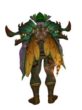 Living Wood Dragonfly druid transmog with wings - back view