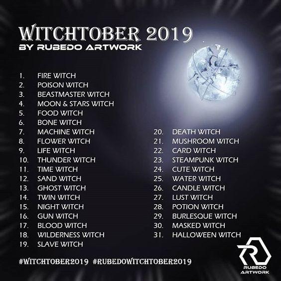 Rubedo's Witchtober 2019