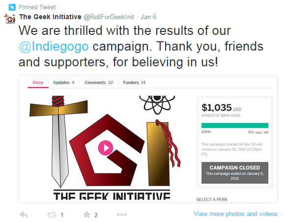 Crowdfunding Advice For Creatives: How The Geek Initiative Succeeded On Indiegogo