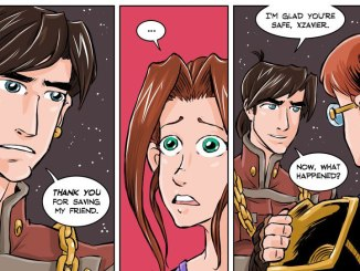 Credits (Shadowbinders written by Kambrea Pratt, Art by Thomas Pratt. The newest pages are colored by Brittany Peer)