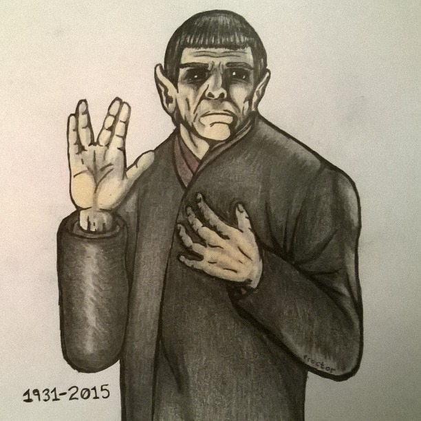 Fans Say Goodbye to Leonard Nimoy