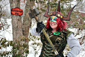 Battle fae! Credit: Seventh Kingdom IGE. LARP Character.