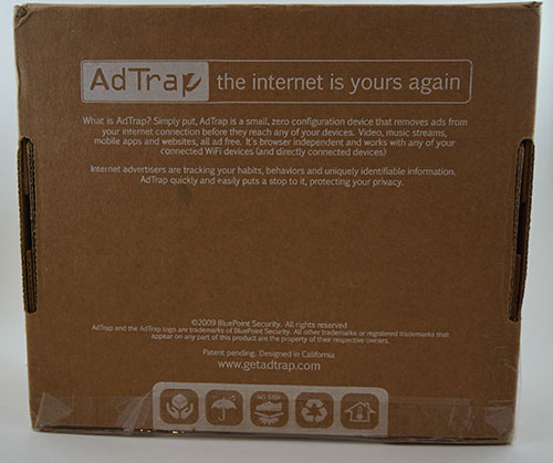 Back Box View of AdTrap