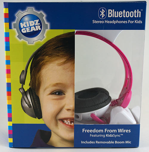 Kidz Gear Pink Wireless Headphones