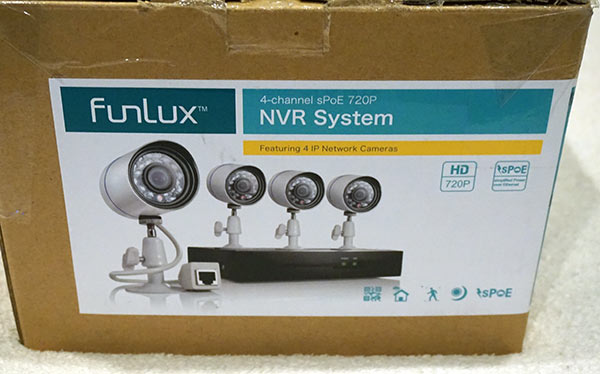 FunLux 4CH HD Video Security System - Box
