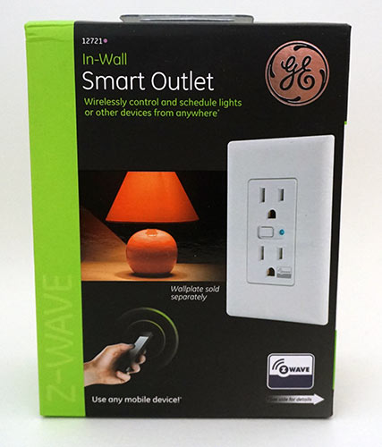 GE InWall ZWave Smart Outlet Box