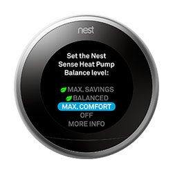 Nest Learning Thermostat Heat Pump Balance Feature