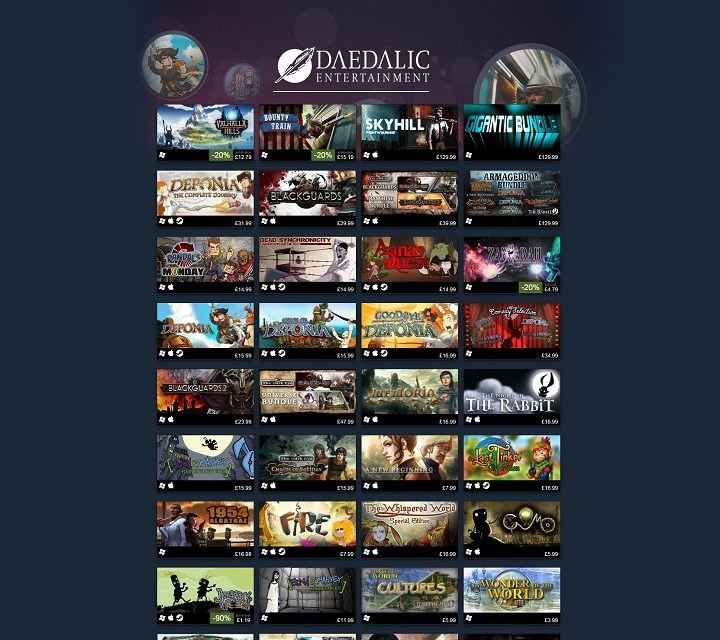 Daedalic Publisher Weekend on Steam!