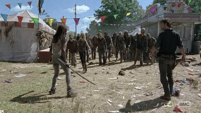 The Walking Dead S07E12 Walker Circus
