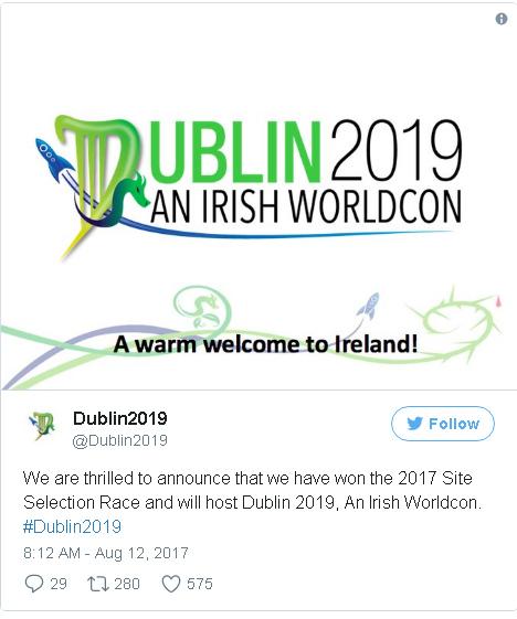 Worldcon Dublin Tweet