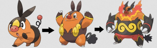 tepig evolution chart