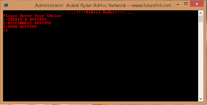 Disconnect Hotspot Adhoc Network Windows 8.1