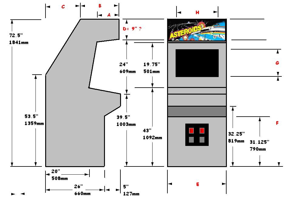 Arcade Cabinet Plans Google Sketchup | Nrtradiant.com