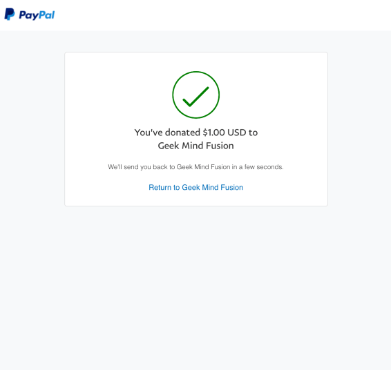 PayPal Done