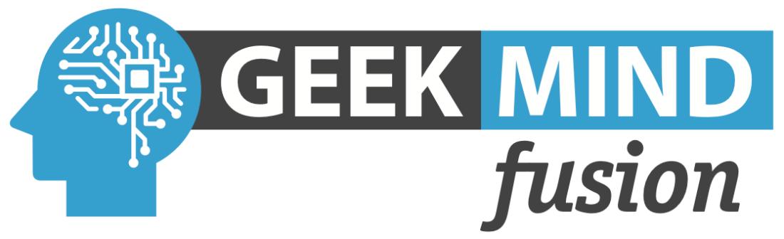 Geek Mind Fusion horizontal logo donate page