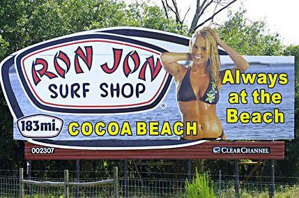 Really? Only 183 miles to go? Don't worry, Ron Jon's won't let you forget before it will remind you about every 3-5 miles all the way down Interstates 75 and 95. Image: Wikipedia Commons.