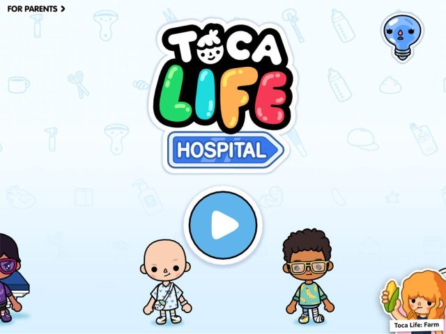 Toca Life: Hospital title screen