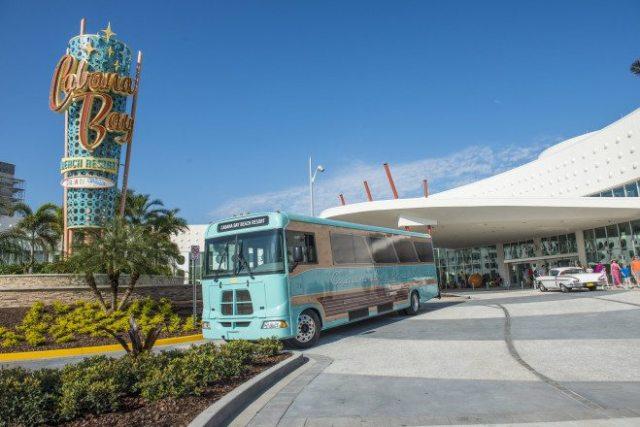 Cabana Bay Beach Resort Front Entrance  Image courtesy of Universal Orlando Resort