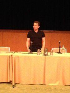 James Marstars during his panel at Boston Comic Con