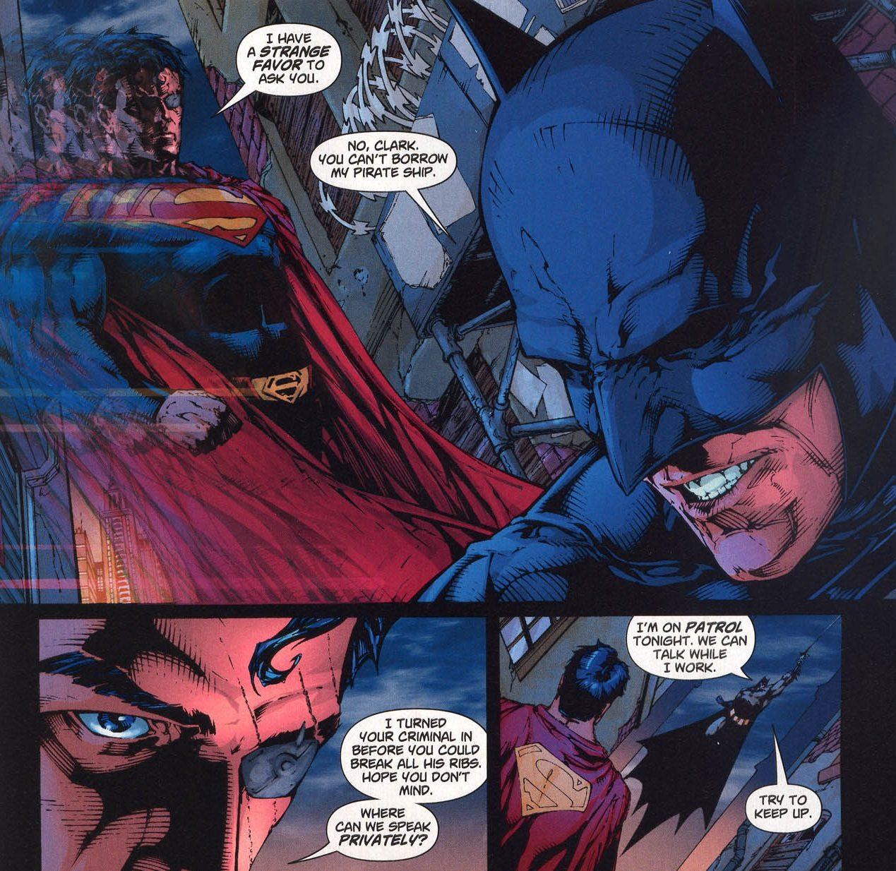 Batman gets the best lines in Superman / Batman  Image: DC Comics