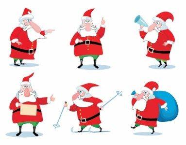 ChristmasSantaClausVectorSet_thumb