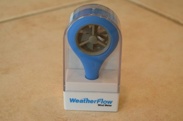 The WeatherFlow Wind Meter is smaller and more durable-looking than the Vaavud. Photo: Patricia Vollmer.