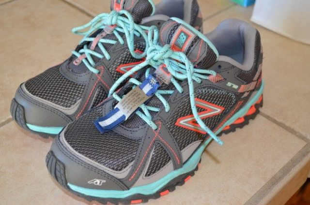 My awesome new running shoes. I have a lofty running goal in late 2014/early 2015, so I'm starting to venture off-road and needed shoes that could handle it. Photo: Patricia Vollmer.