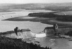 The Möhne Dam after the Raid © Crown Copyright