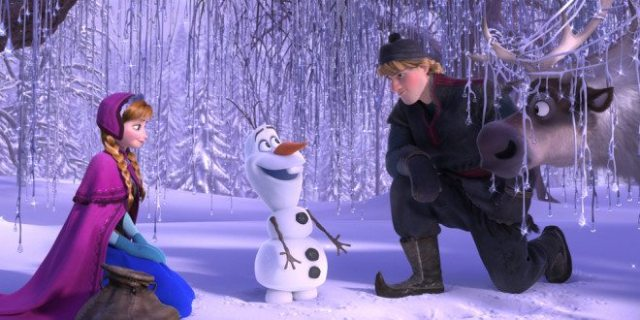 Frozen Anna, Olaf, and Kristoff