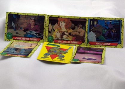 My husband was a collector. Among his stash were these Teenage Mutant Ninja Turtle trading cards.