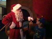Santa was curious how Brandon was doing. Image: Dakster Sullivan