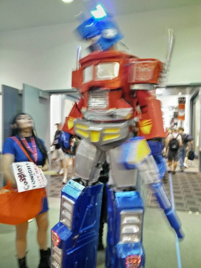 My mother captured a better image of Optimus Prime.