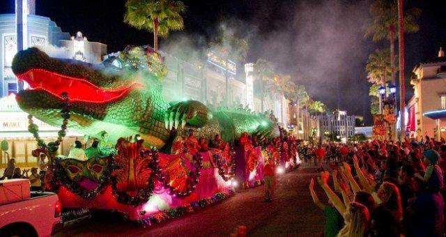 King Gator Float, Mardi Gras at UOR  Image: Universal Orlando