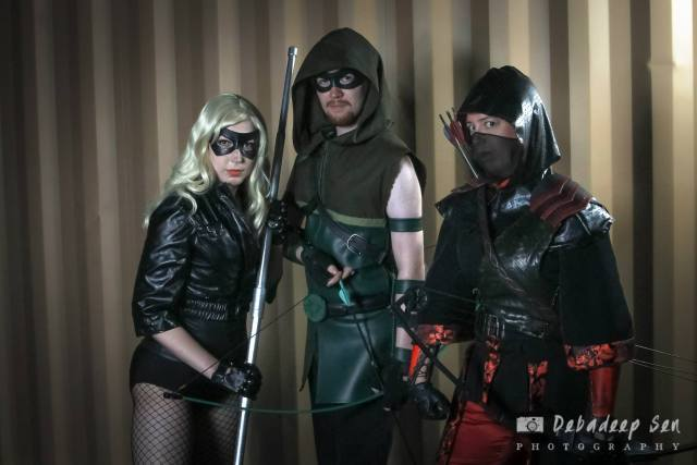 Arrow costumes. Photo by Debadeep Sen.