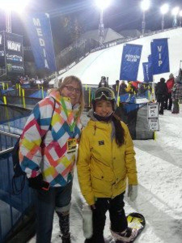 Olympic and X Games athlete Chloe Kim always wears a helmet. Photo: Judy Berna