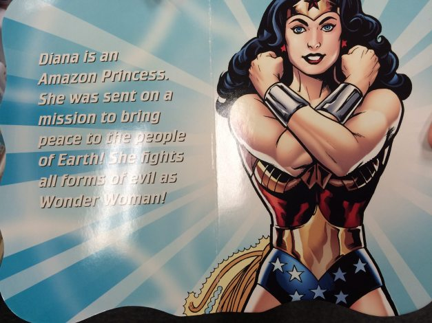 Page 1 of a Children's board book about Wonder Woman.